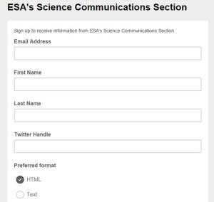 ESA SciComm mailing list_image