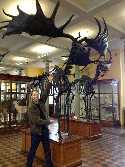 Greg with Irish Elk